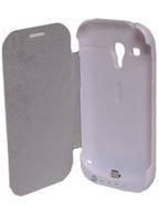 Capa Flip com Bateria para Samsung Galaxy S3 Mini i8190 3200mAh BRANCA