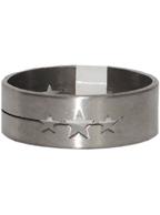 Anel de Aço Inox Unissex com Desenho Estrelas