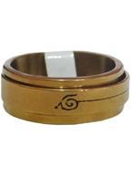 Anel Giratório de Aço Inox Dourado Caracol
