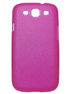 Back Cover Samsung Galaxy S3 Pink com Relevo + Pelicula Grátis
