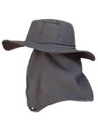 Chapéu Australiano PRETO C/ Protetor de Nuca p/ Pescador, Mateiro, Agricultor entre Outros