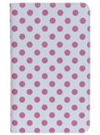Capa Case Branca c/ Bolinhas Pinks para Tablet Samsung Galaxy Tab Pró 8.4  SM-T320n, SM-T321 ou SM-T325