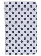 Capa Case Branca c/ Bolinhas Preta para Tablet Samsung Galaxy Tab Pró 8.4  SM-T320n, SM-T321 ou SM-T325