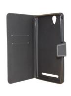 Capa Case Capinha Couro Carteira PRETA Smartphone Sony Xperia T2 Ultra D5322, XM50h