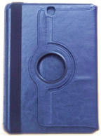 Capa Case Carteira Giratória 360º Azul Marinho Tablet Samsung Galaxy Tab A 9.7 Modelos SM-P550n, SM-P555m, SM-T550n ou SM-T555n