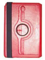 Capa Case Carteira Giratória 360º VERMELHA Tablet Samsung Galaxy Tab A 8.0 Modelos SM-P350n, SM-P355m, SM-T350n ou SM-T355n