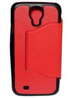 Capa Inclinável Vermelho c/ Preto Samsung Galaxy S4 i9500 ou i9505 + Brindes