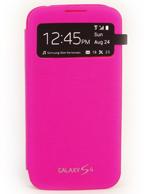 Capa Protetora S View Cover PINK Samsung Galaxy S4 i9500 ou i9505 + Brindes
