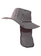 Chapéu Australiano GRAFITE c/ Protetor de Nuca p/ Pescador, Mateiro, Agricultor entre Outros