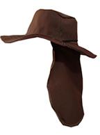 Chapéu Australiano MARROM c/ Protetor de Nuca p/ Pescador, Mateiro, Agricultor entre Outros