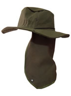 Chapéu Australiano Verde Oliva c/ Protetor de Nuca p/ Pescador, Mateiro, Agricultor entre Outros