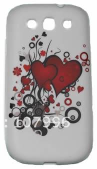 Back Cover Samsung Galaxy S3 Desenho Coração + Pelicula Grátis