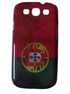 Back Cover Samsung Galaxy S3 Desenho Bandeira de Portugal  + Pelicula Grátis